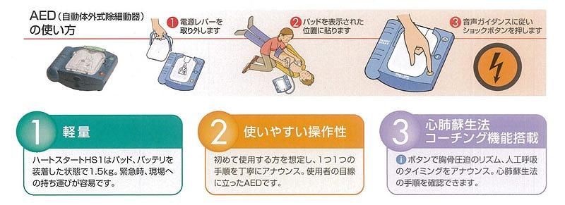 AEDは突然の心停止から救命率を上げる自動体外式除細動器 ラコントゥル